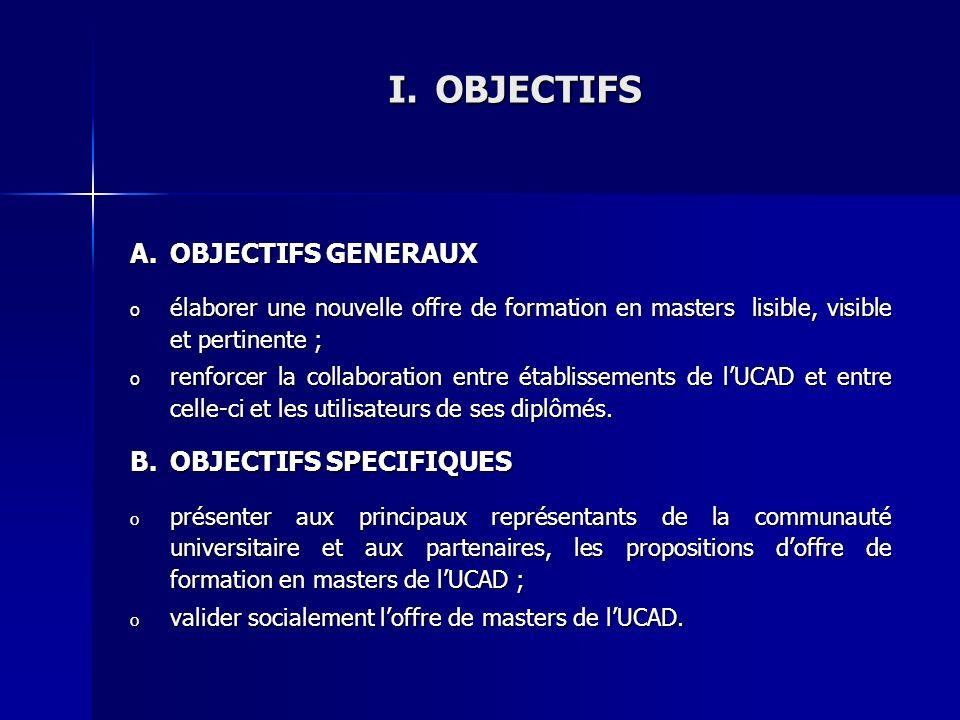 OBJECTIFS OBJECTIFS GENERAUX OBJECTIFS SPECIFIQUES