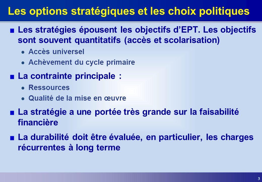 Les options stratégiques et les choix politiques