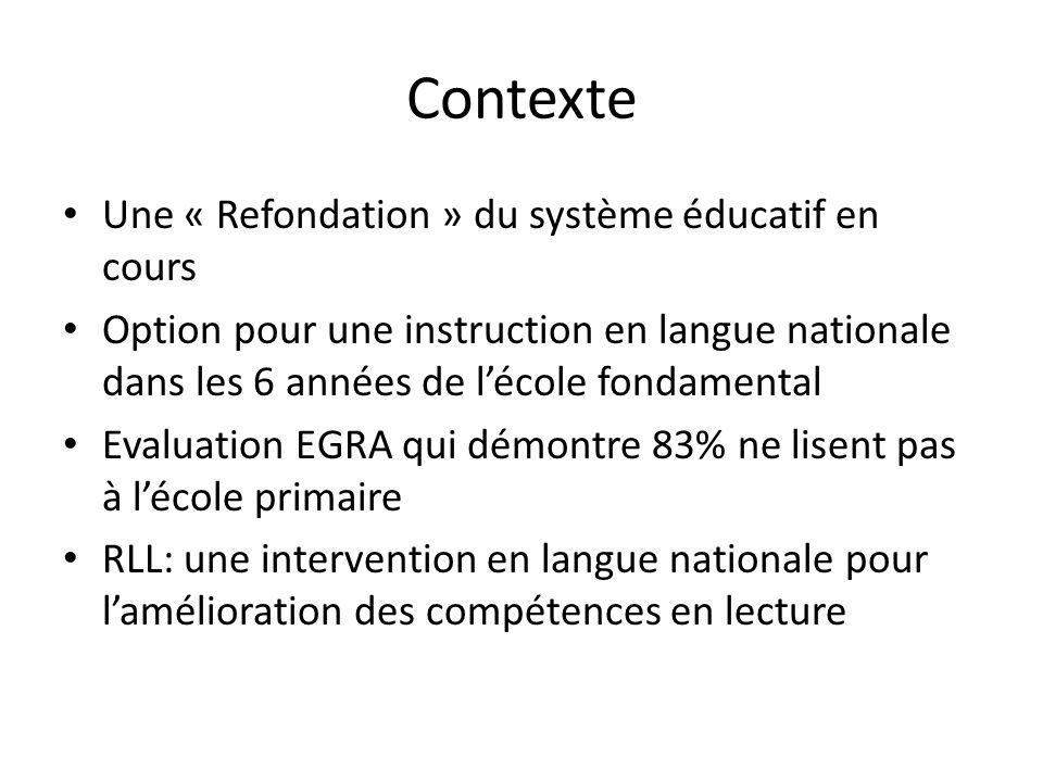 Contexte Une « Refondation » du système éducatif en cours