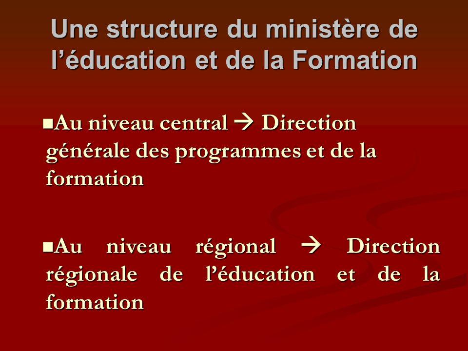 Une structure du ministère de l'éducation et de la Formation