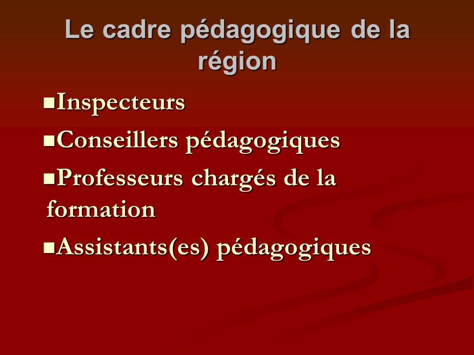 Le cadre pédagogique de la région