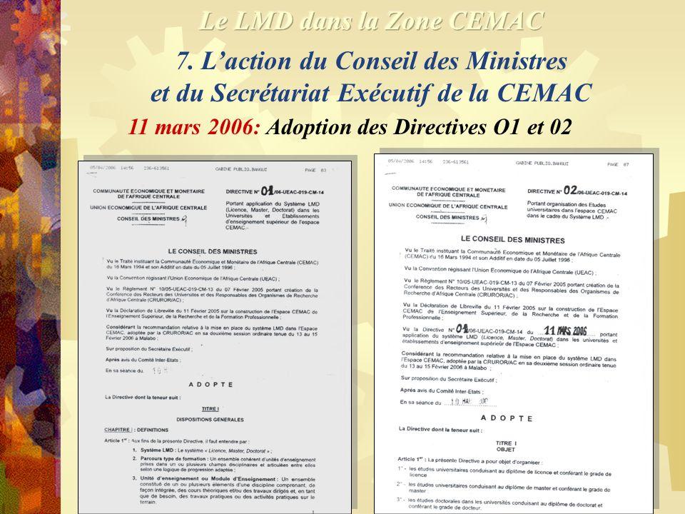 Le LMD dans la Zone CEMAC