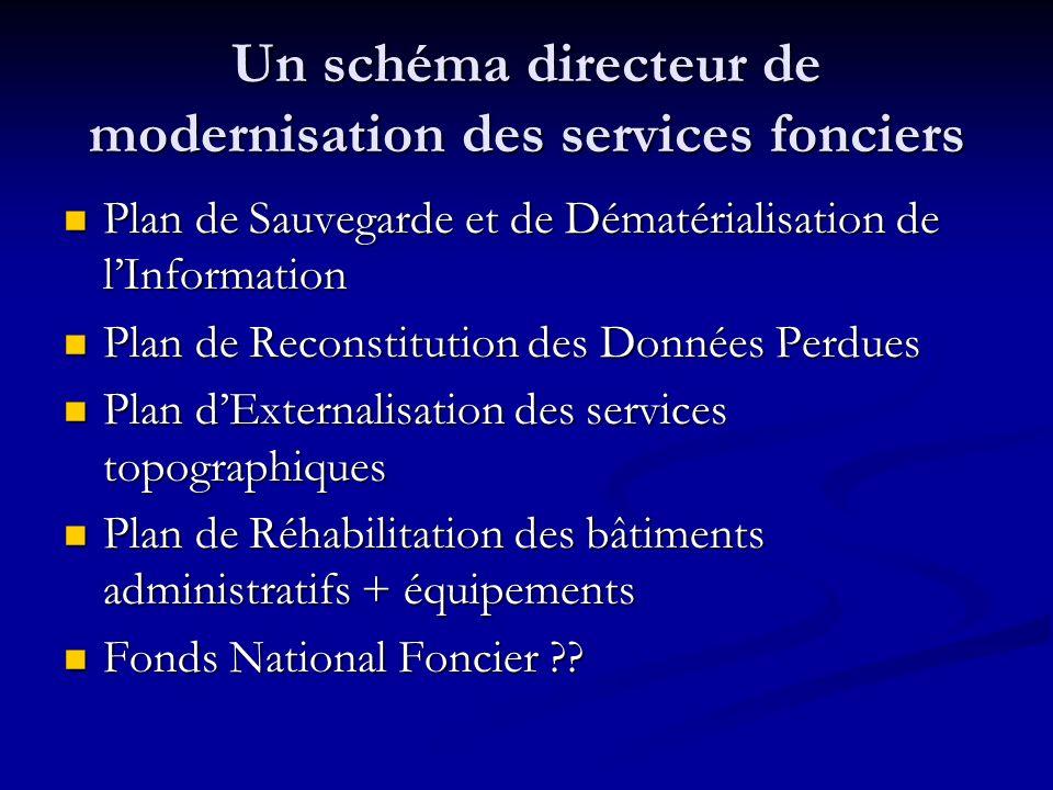 Un schéma directeur de modernisation des services fonciers