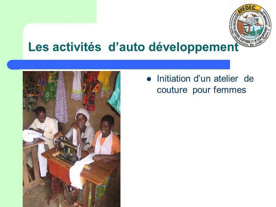 Les activités d'auto développement