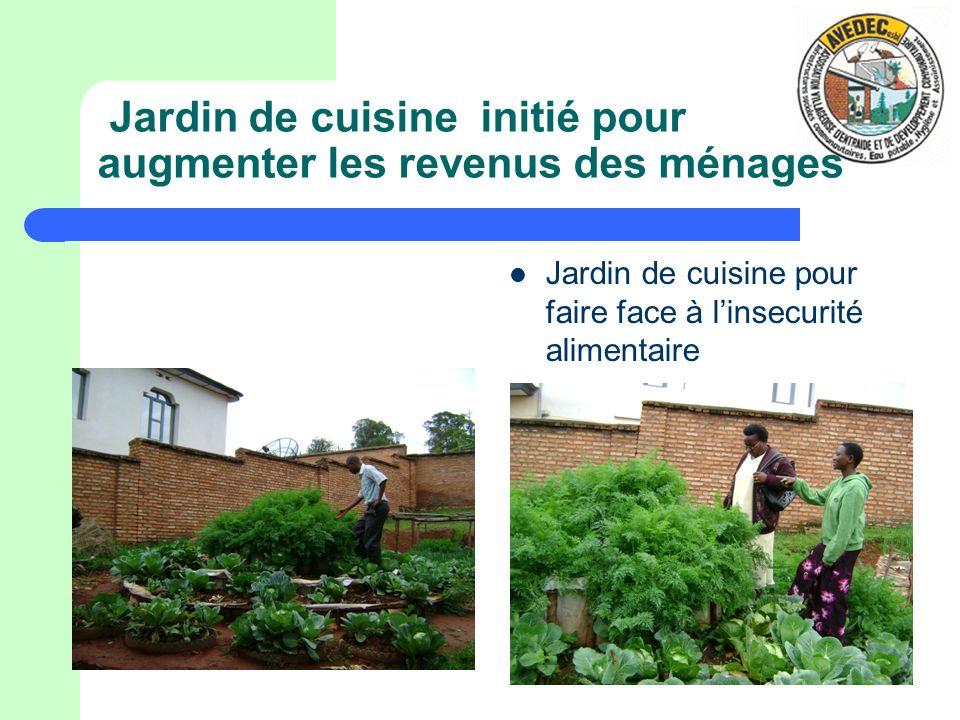 Jardin de cuisine initié pour augmenter les revenus des ménages