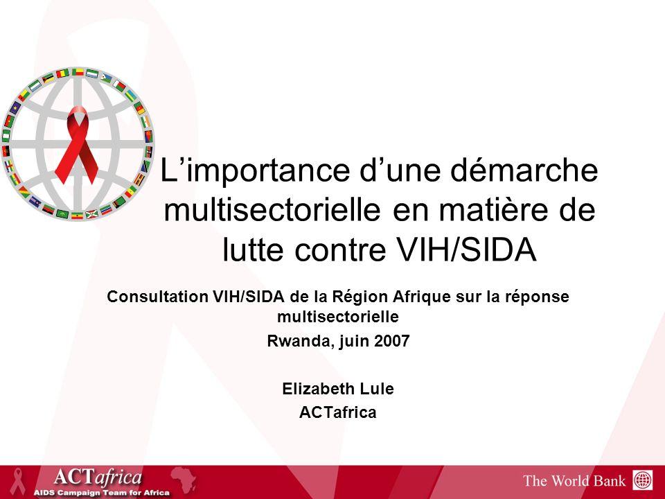 L'importance d'une démarche multisectorielle en matière de lutte contre VIH/SIDA