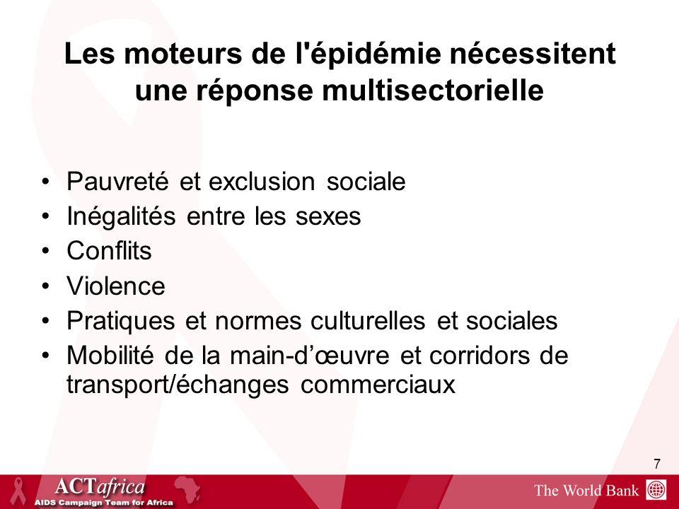 Les moteurs de l épidémie nécessitent une réponse multisectorielle