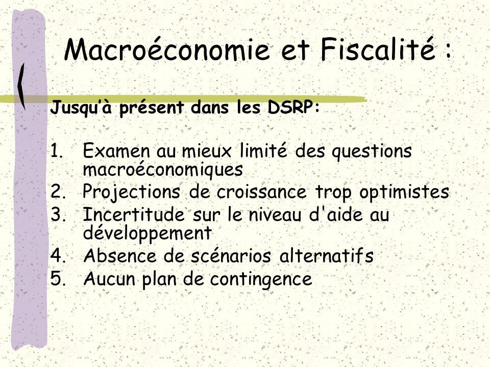 Macroéconomie et Fiscalité :
