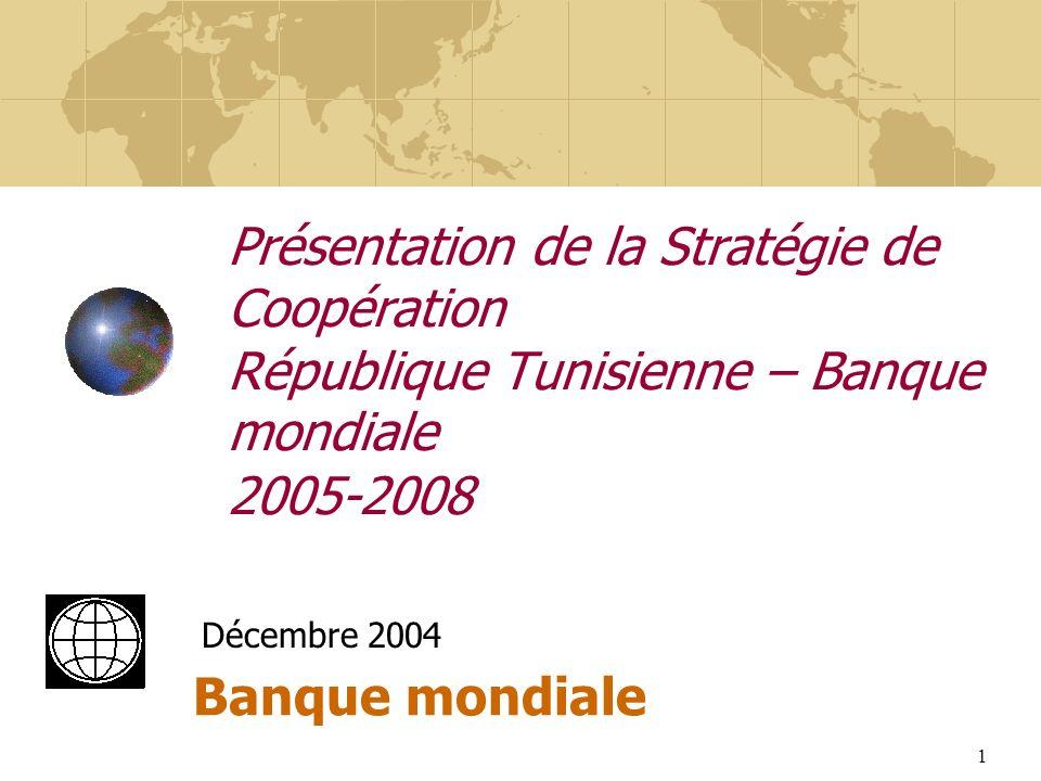 Présentation de la Stratégie de Coopération République Tunisienne – Banque mondiale 2005-2008