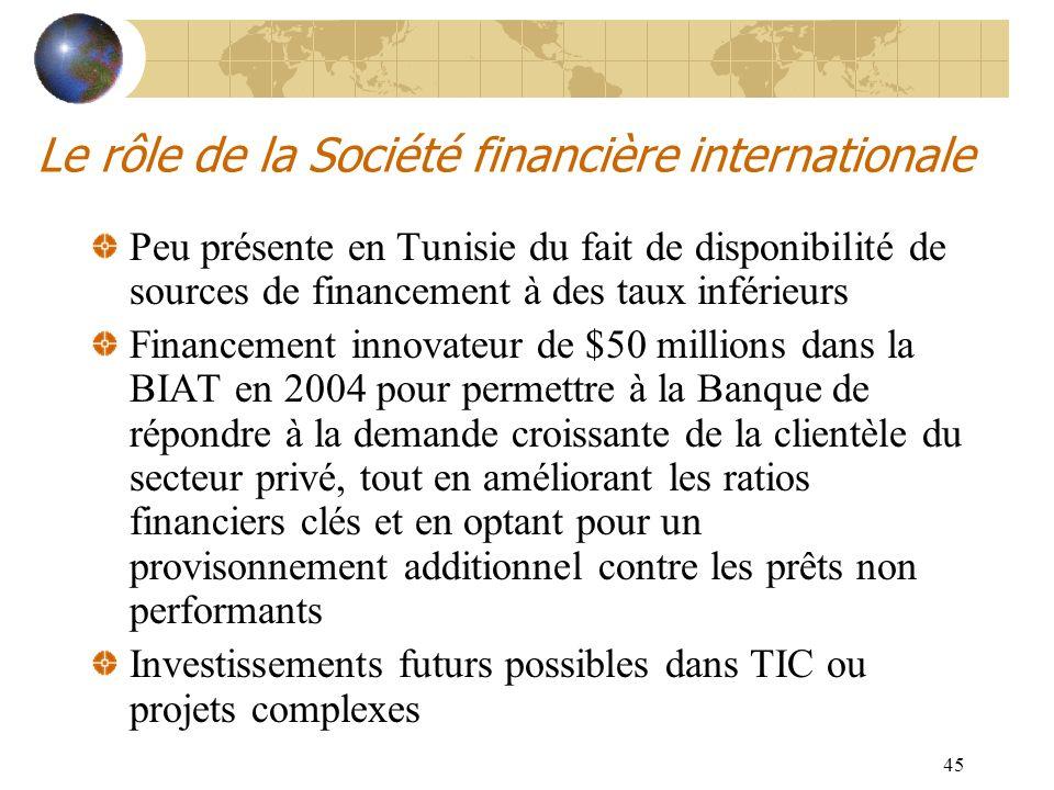Le rôle de la Société financière internationale