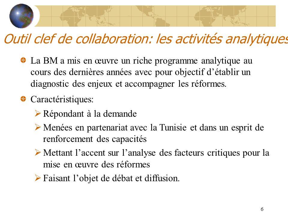 Outil clef de collaboration: les activités analytiques