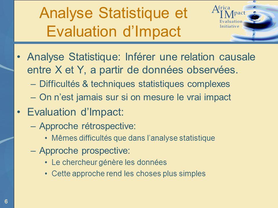 Analyse Statistique et Evaluation d'Impact