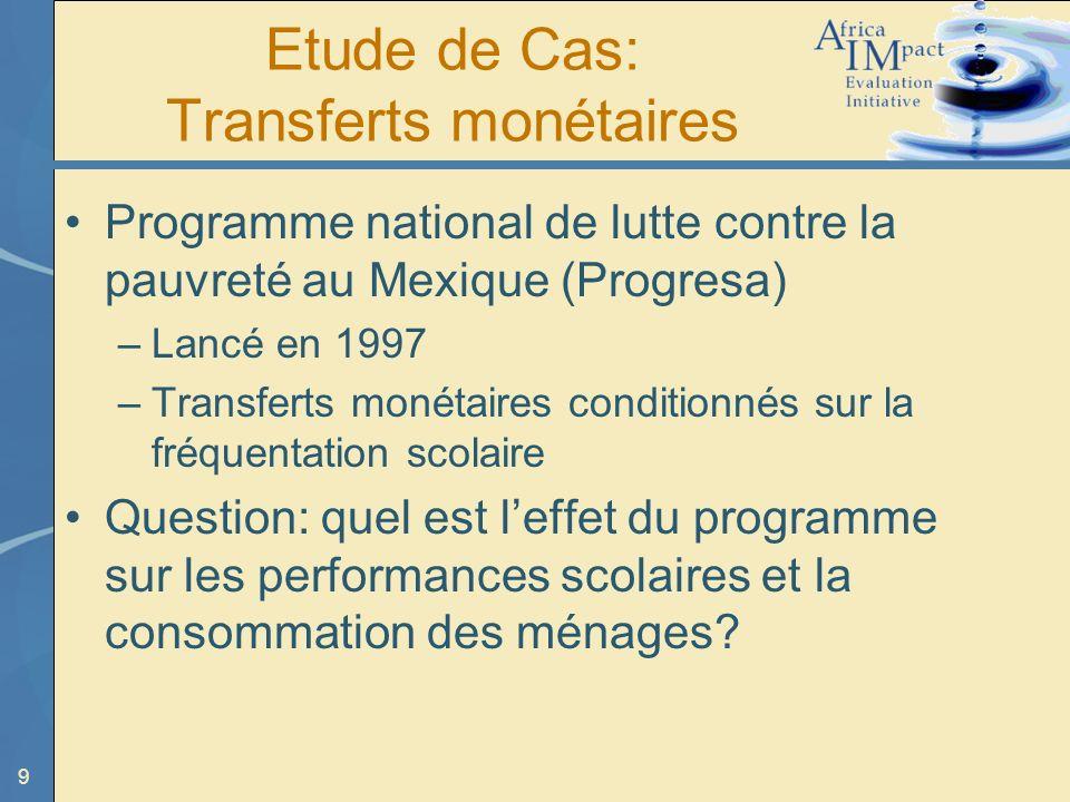 Etude de Cas: Transferts monétaires