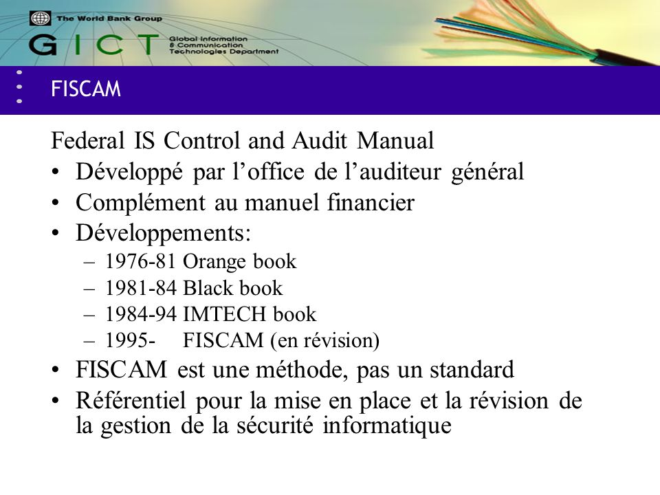 Federal IS Control and Audit Manual