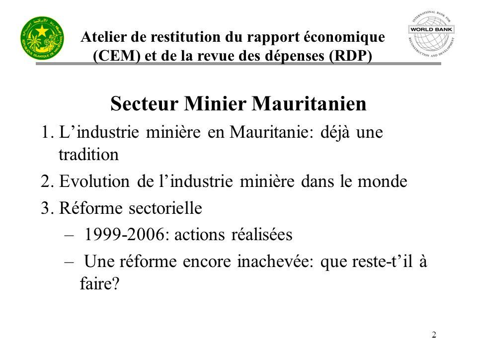 Secteur Minier Mauritanien