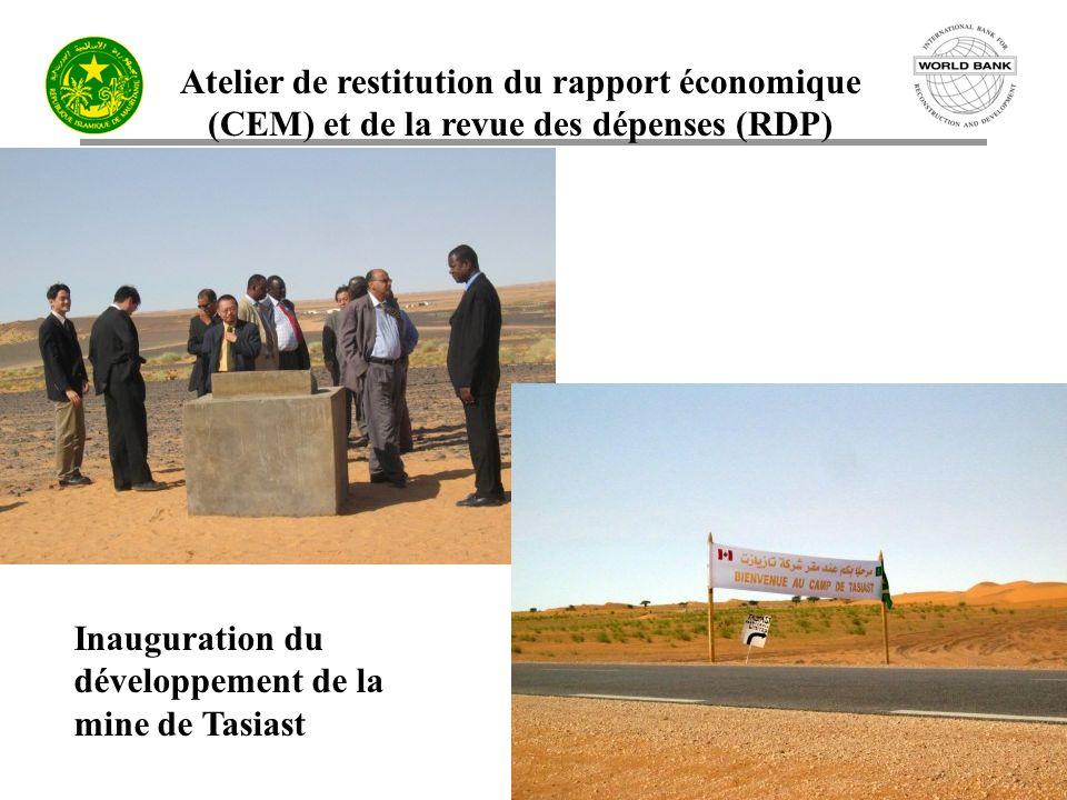 Inauguration du développement de la mine de Tasiast