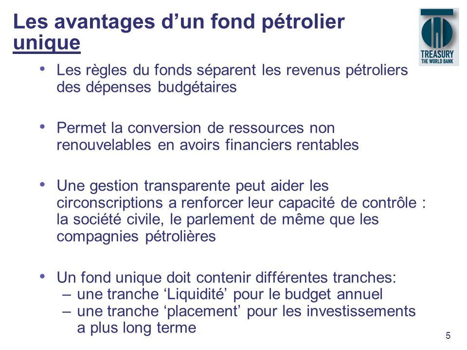 Les avantages d'un fond pétrolier unique