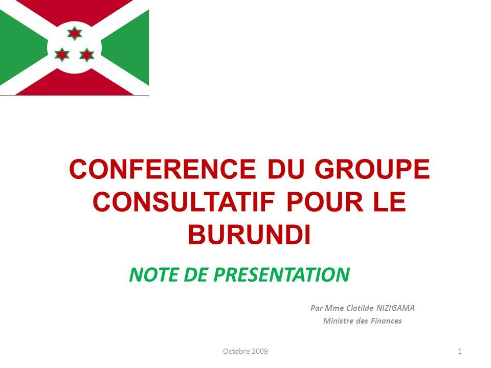 Par Mme Clotilde NIZIGAMA Ministre des Finances