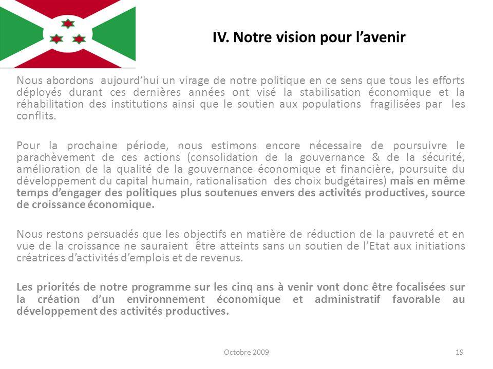 IV. Notre vision pour l'avenir
