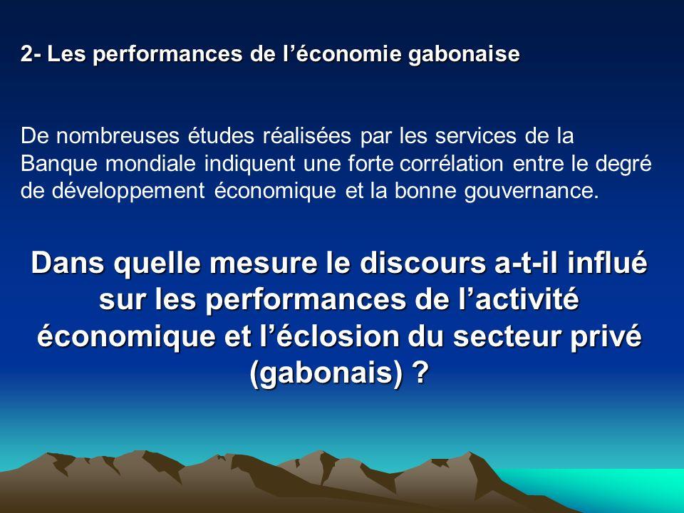 2- Les performances de l'économie gabonaise
