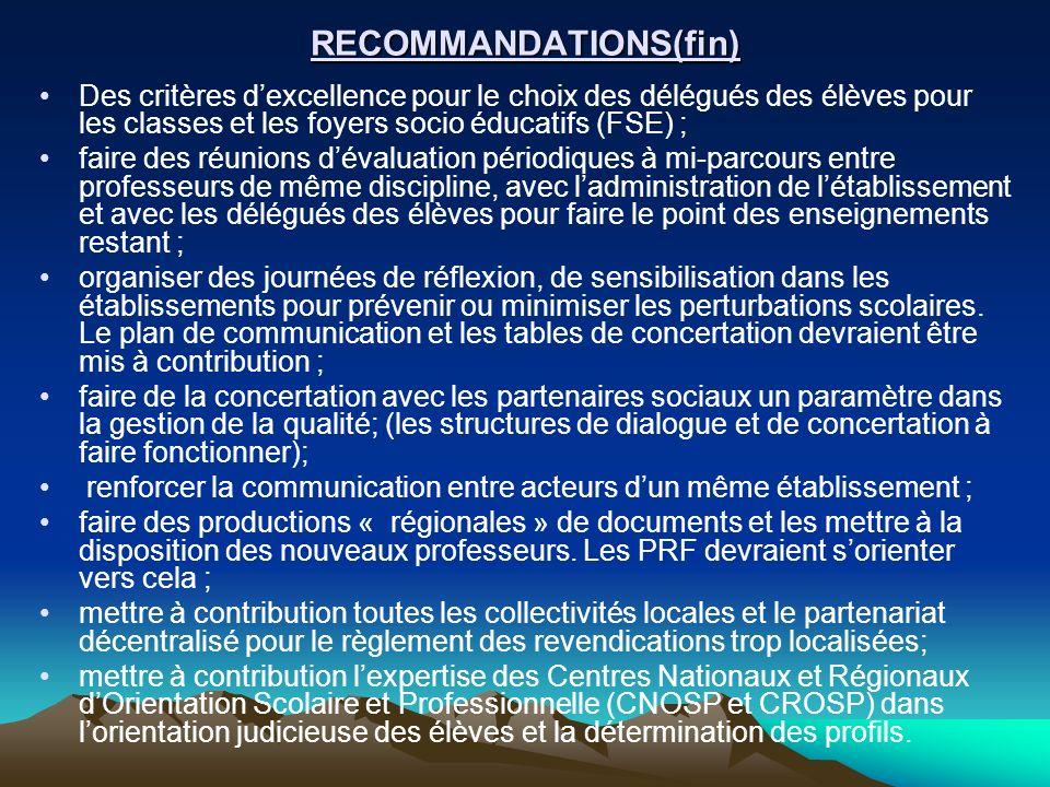 RECOMMANDATIONS(fin)