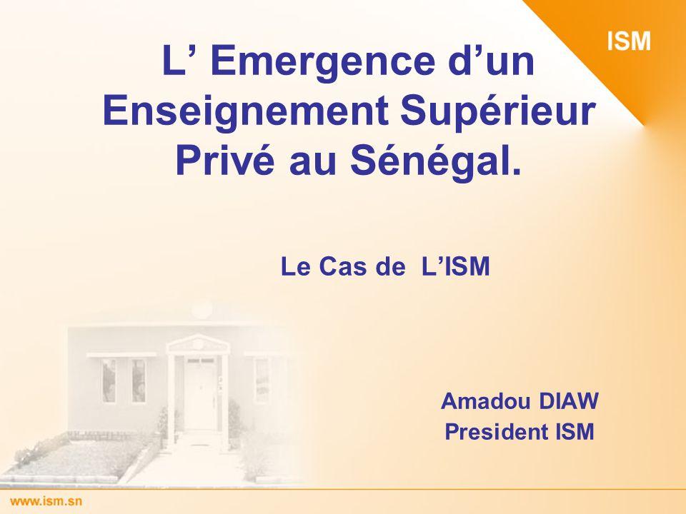 L' Emergence d'un Enseignement Supérieur Privé au Sénégal