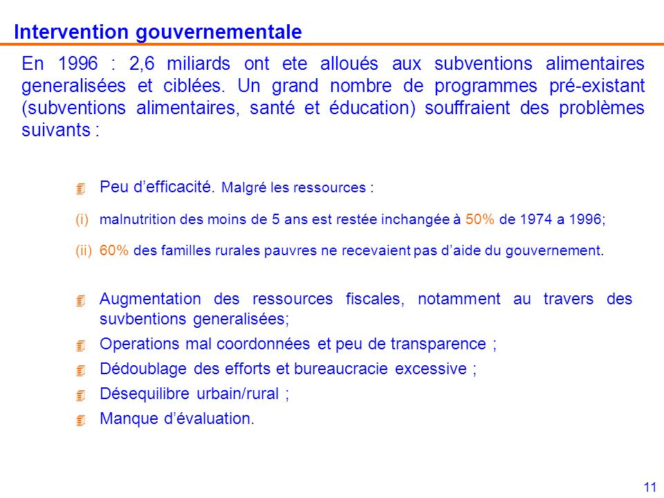 Intervention gouvernementale