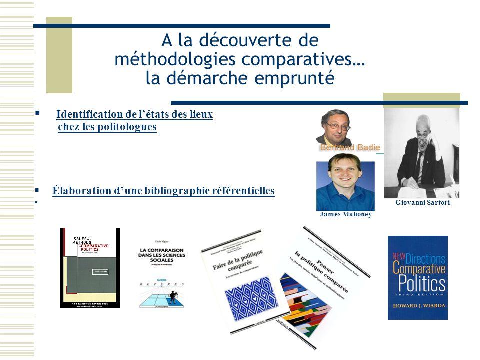A la découverte de méthodologies comparatives… la démarche emprunté