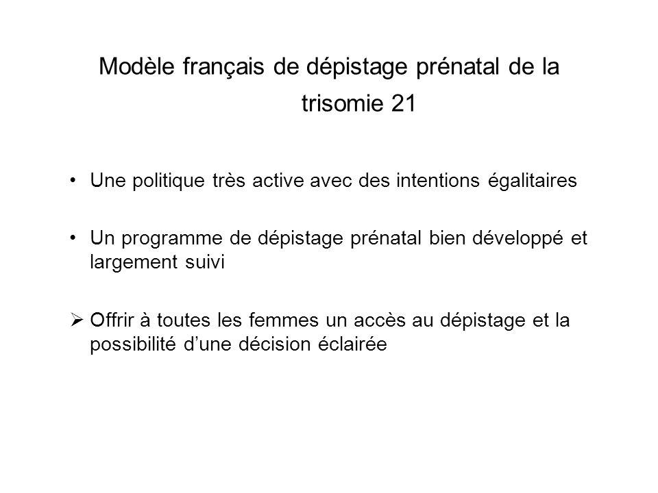 Modèle français de dépistage prénatal de la trisomie 21