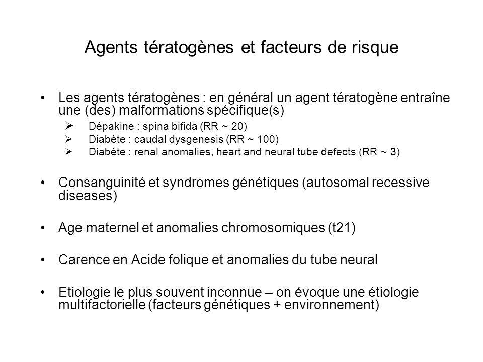 Agents tératogènes et facteurs de risque
