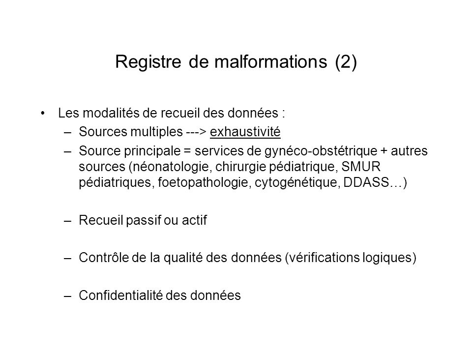 Registre de malformations (2)