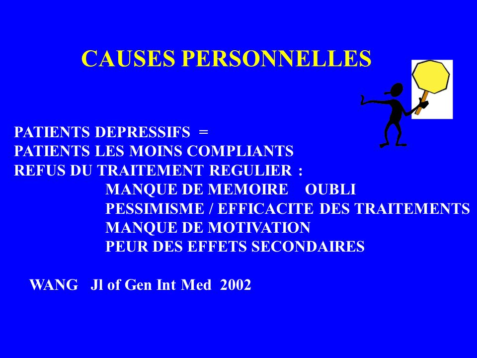 CAUSES PERSONNELLES PATIENTS DEPRESSIFS =