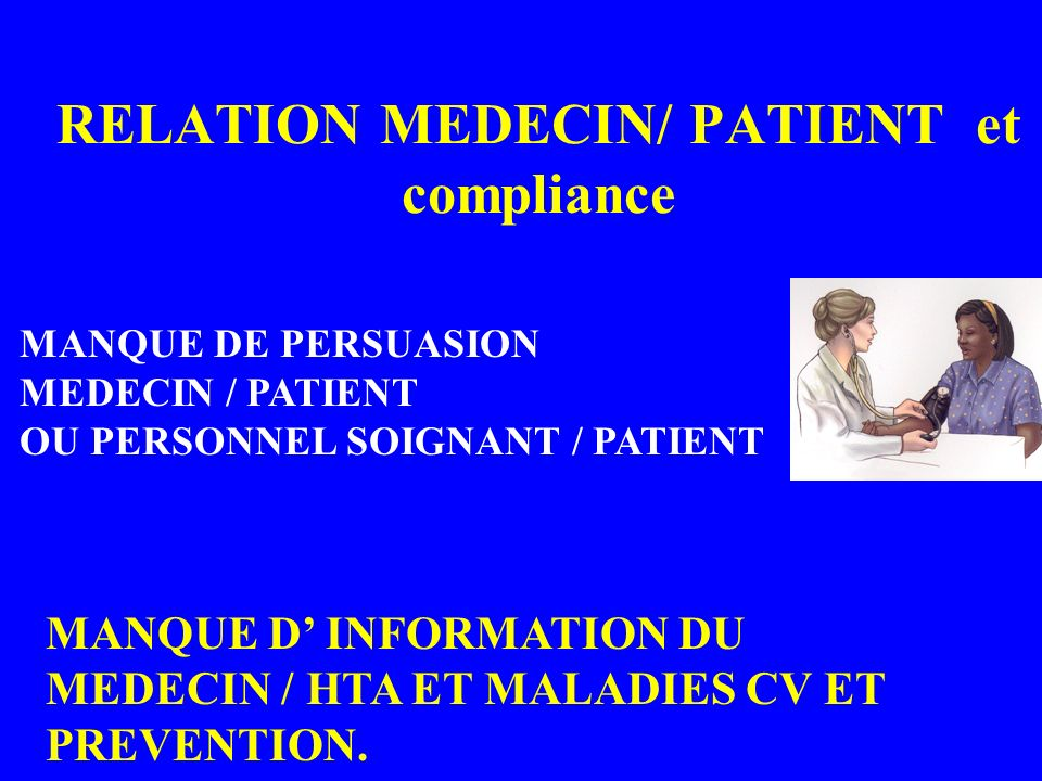 RELATION MEDECIN/ PATIENT et compliance