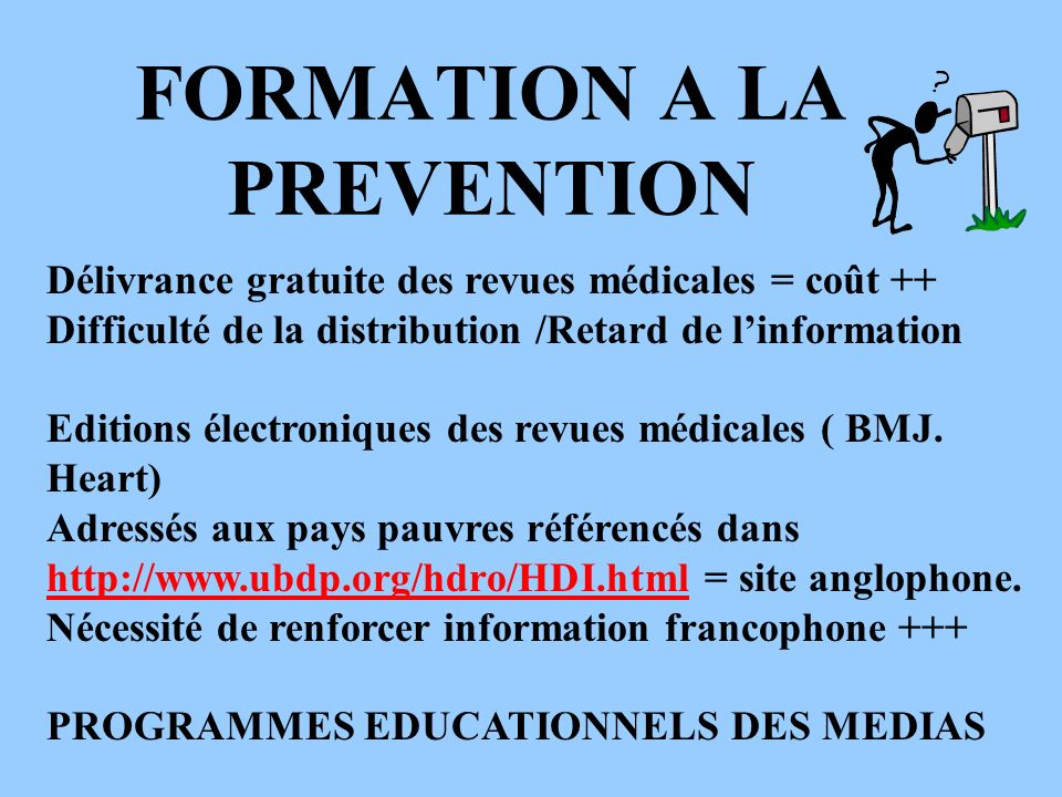 FORMATION A LA PREVENTION