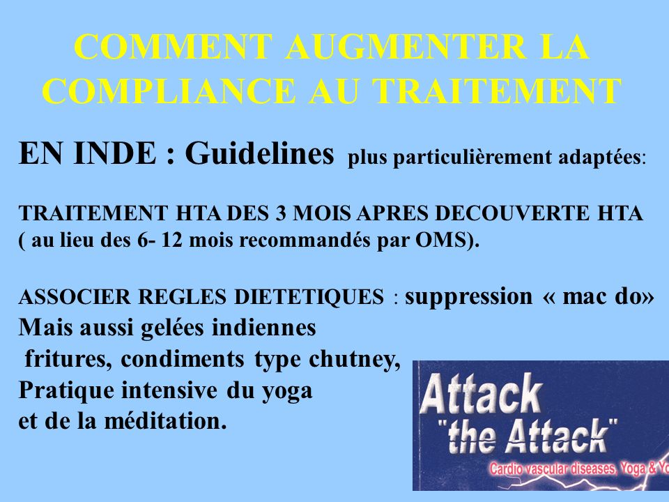 COMMENT AUGMENTER LA COMPLIANCE AU TRAITEMENT