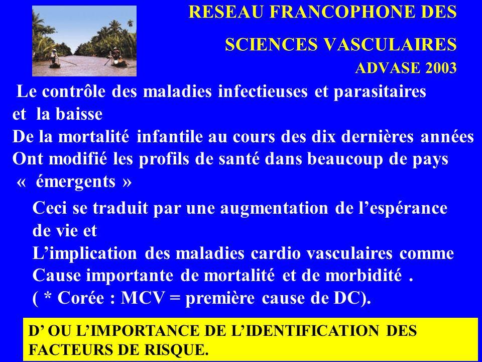 RESEAU FRANCOPHONE DES SCIENCES VASCULAIRES ADVASE 2003