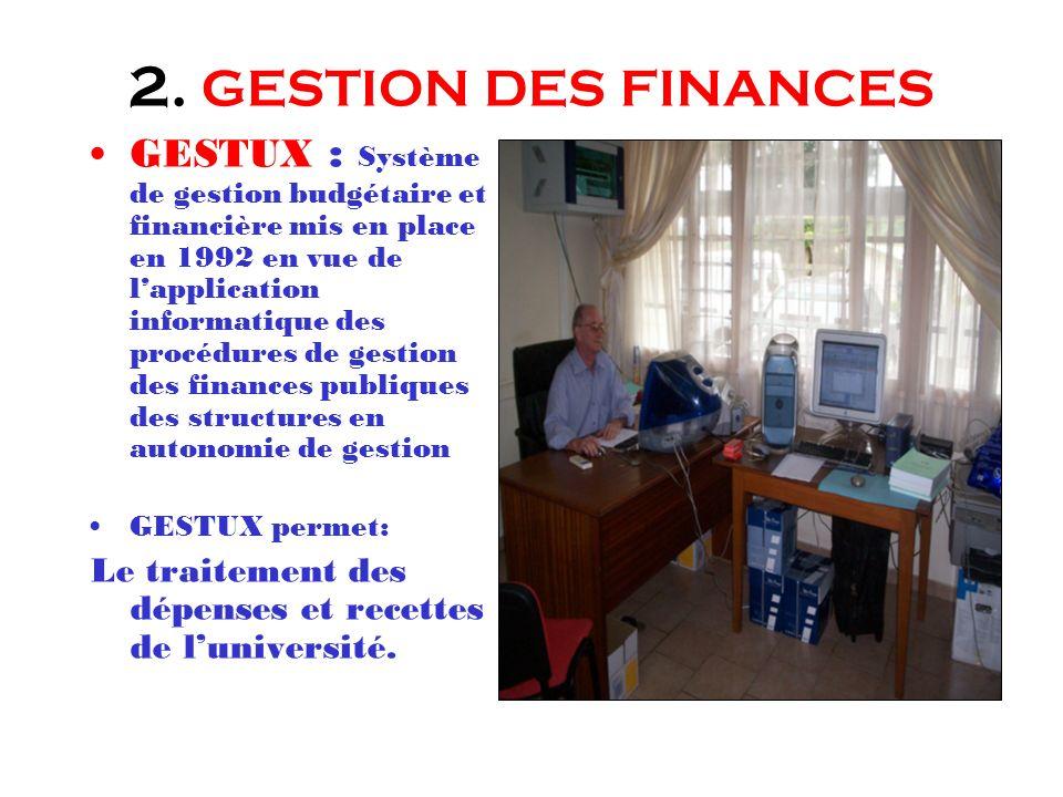 2. GESTION DES FINANCES