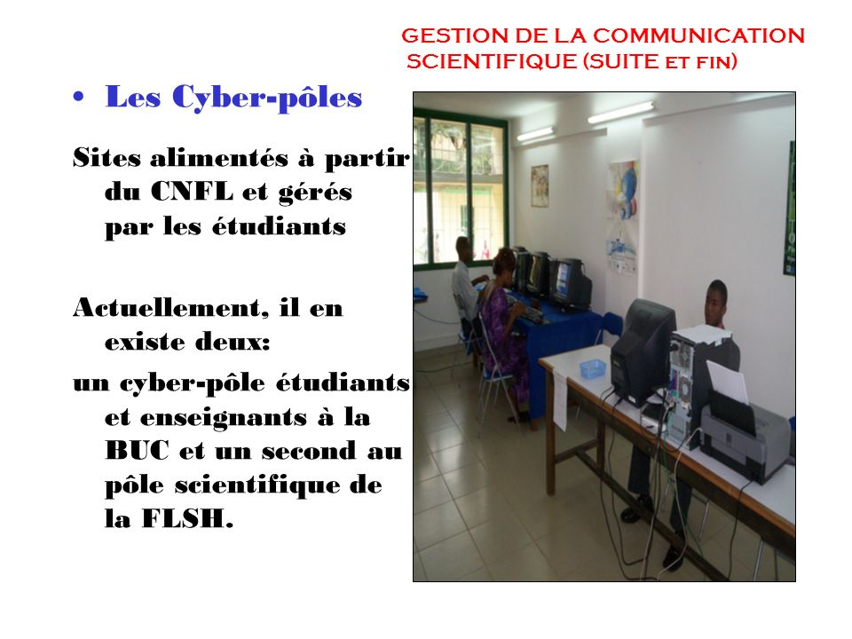 GESTION DE LA COMMUNICATION