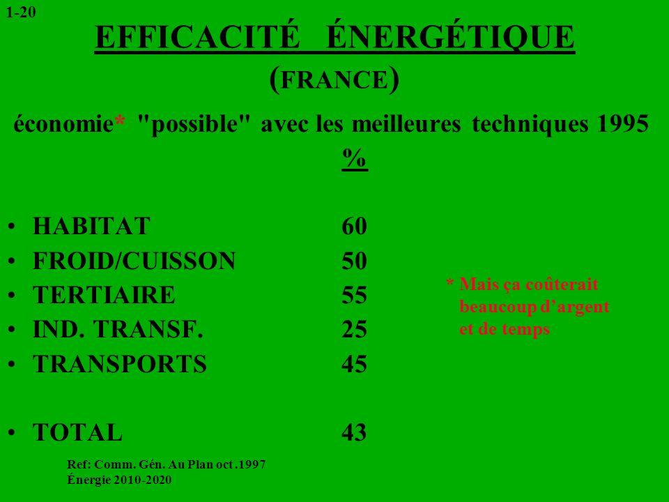 EFFICACITÉ ÉNERGÉTIQUE (FRANCE)