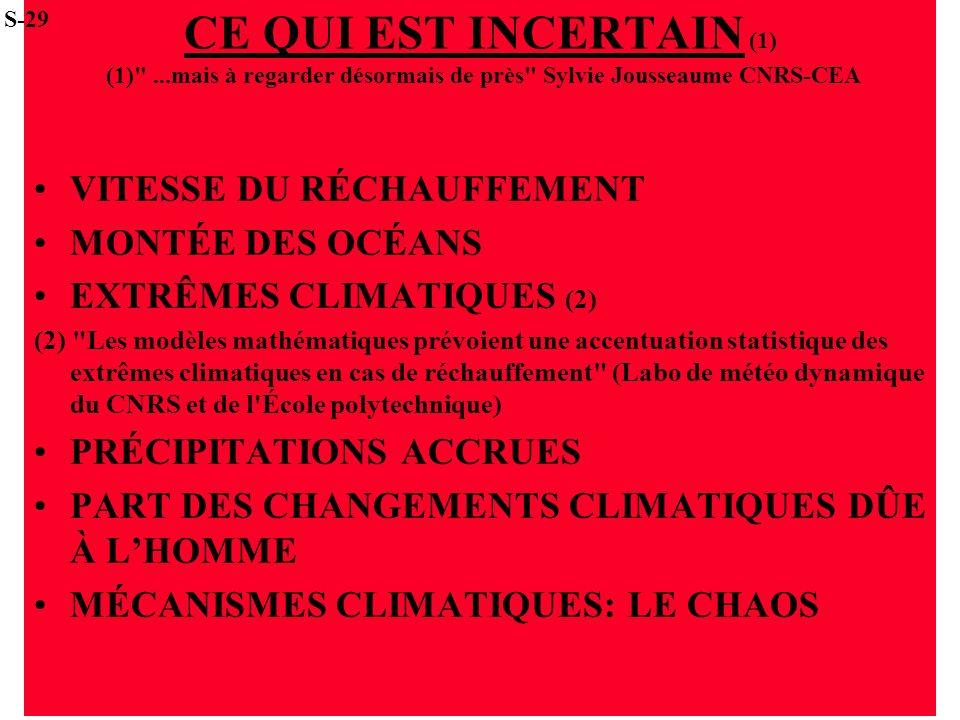 S-29 CE QUI EST INCERTAIN (1) (1) ...mais à regarder désormais de près Sylvie Jousseaume CNRS-CEA.