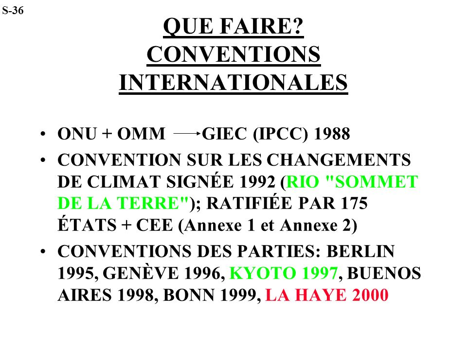 QUE FAIRE CONVENTIONS INTERNATIONALES
