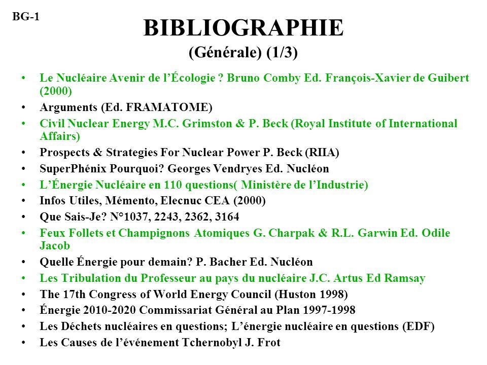 BIBLIOGRAPHIE (Générale) (1/3)