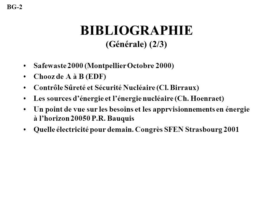 BIBLIOGRAPHIE (Générale) (2/3)