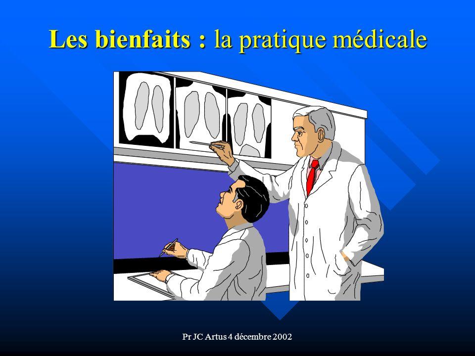 Les bienfaits : la pratique médicale