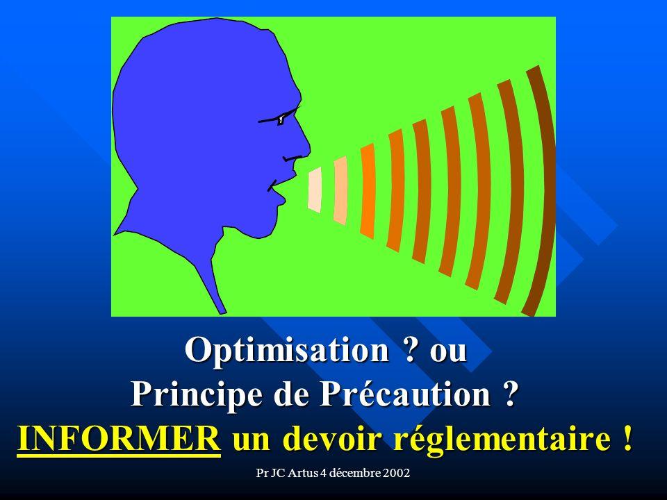 Optimisation. ou Principe de Précaution