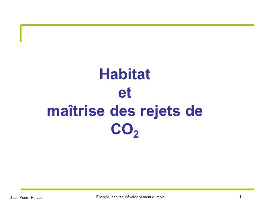 Habitat et maîtrise des rejets de CO2