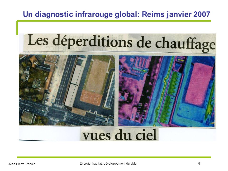 Un diagnostic infrarouge global: Reims janvier 2007