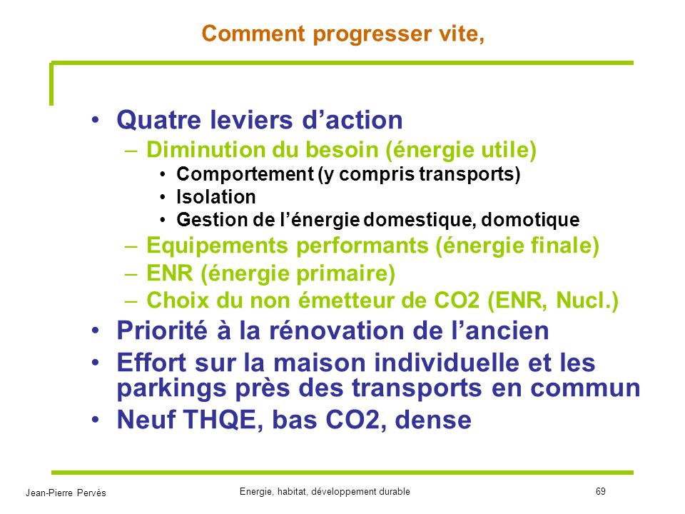 Comment progresser vite,