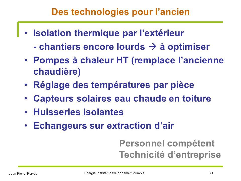 Des technologies pour l'ancien