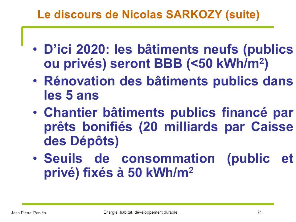 Le discours de Nicolas SARKOZY (suite)